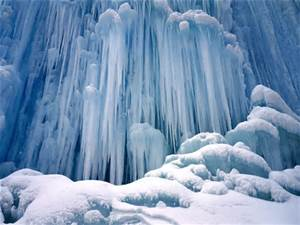 water fall iced