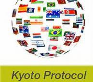 Kyoto protocol flag