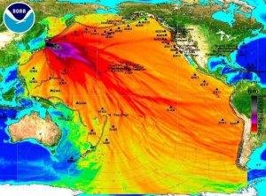 Radiation in Pacific Ocean released by NOAA
